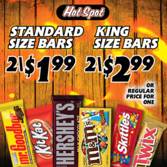 hot spot candy bars promo