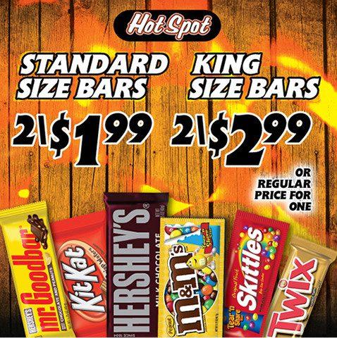 hot spot candy bars promo
